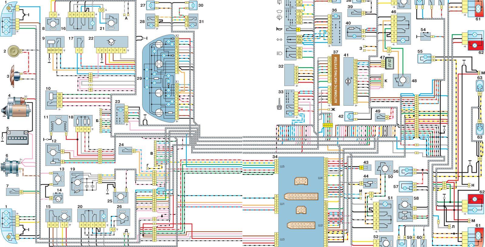 Схема расположения предохранителей на ваз 21113 универсал